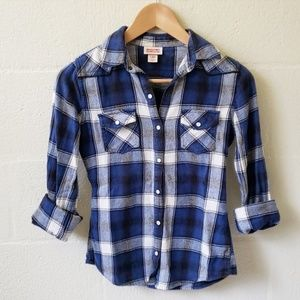 Mossimo Flannel Snap Button Down